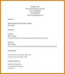 Sample Teenage Resume by Resume Examples For Teens Teenage Resume Worksheet Example Sample