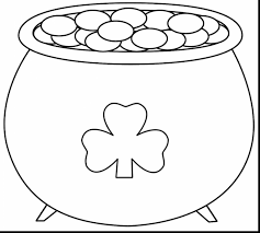 fabulous st patricks day pot of gold coloring page with st patrick