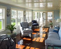 sunroom ideas sunroom beach with blue couch beadboard ceiling