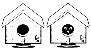 birdhouse coloring page coloring home