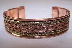 copper bracelet men images Solid copper two tone cuffed health bracelet men women ladies jpg