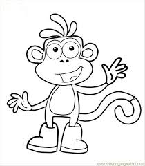 dora boots coloring pages google kynners 3rd bday