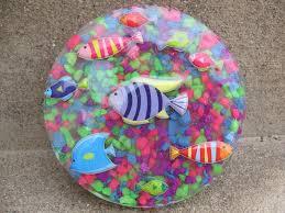 craft klatch fish stickers and aquarium rocks coaster craft