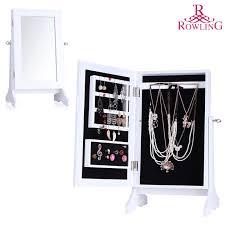 mirror and jewelry cabinet white jewelry storage mirror wood stand mirrored jewellery cabinet
