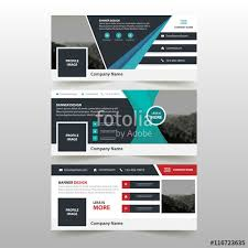layout banner template green black red business banner template horizontal advertising