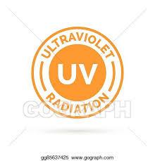 vector uv ultraviolet radiation sun rays icon st symbol