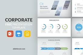 Corporate Free Presentation Template Presentations On Slideforest Tempalte Ppt