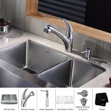 kraus pull out kitchen faucet stainless steel kitchen sink combination kraususa com