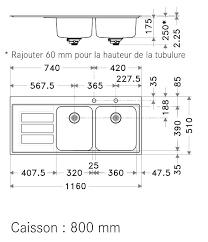 dimension evier cuisine dimension evier cuisine avec 2 dimension cuisine taille meuble evier