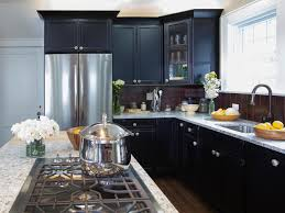 Black Cabinets Kitchen Granite Countertop Colors Hgtv