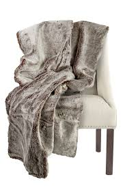 Faux Fur Throw Blanket Authentic Faux Fur Two Tone Grey Brown Thick Super Soft Throw