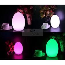 Change Table Color Led Mood Light Table L Egg Shape D14cm Usb Cable