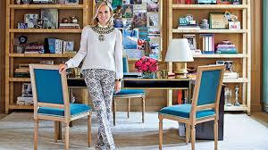 inside tory burch u0027s preppy and feng shui ed nyc office curbed