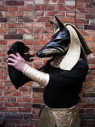 Anubis Halloween Costume Anubis Gold Costume Leather Bob Basset
