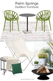 Palm Springs Outdoor Furniture by Palm Springs Inspired Outdoor Furniture For Small Spaces Boreal