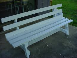 simple garden bench seat made by mark