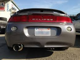 mitsubishi eclipse 1991 srs type r1 catback exhaust system mitsubishi eclipse 95 99 gst