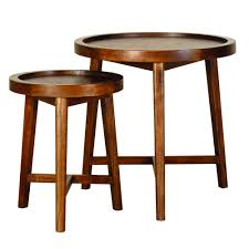 furniture bronze side table round nesting tables triangle