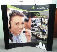 8ft pop up display with graphic panels
