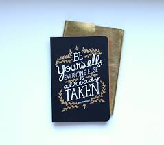 Wedding Quotes Oscar Wilde A5 Journal With Oscar Wilde Quote Gold Wrap Cover From Www