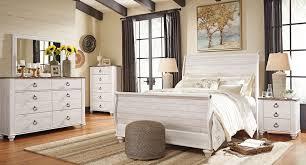 willowton sleigh bedroom set signature design furniture cart