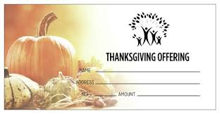 thanksgiving themed offering envelopes pre printed