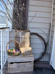 Easter Decorations Using Twigs by 283 Best Easter Door Porch Outdoor Ideas Images On Pinterest