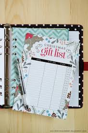 free printable christmas gift list insert for a5 planners