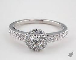 milgrain engagement ring jewelry royal halo platinum royal halo vintage inspired
