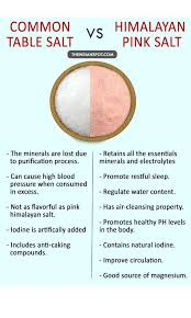 what s the difference between table salt and sea salt table salt vs himalayan pink salt which is better and why