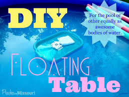 floating table for pool diy floating table for the pool floating table pool table and