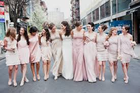 no bridesmaids u2026 can i ask my friends to all wear coordinating