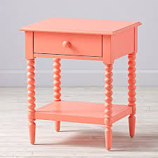 coral jenny lind 1 drawer nightstand the land of nod
