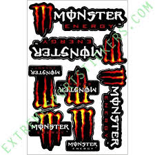 monster energy stickers decals extreme sport skateboards
