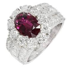 hammerman brothers ruby diamond platinum engagement ring at 1stdibs