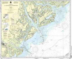 Beaufort Sc Map Amazon Com 11513 St Helena Sound To Savannah River Fishing
