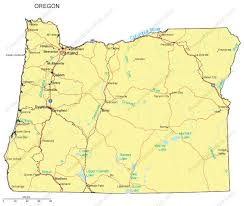 oregon map with cities oregon powerpoint map counties major cities and major highways