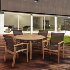 Circular Patio Seating Teak Outdoor Dining Sets Shop The Best Patio Furniture Deals For