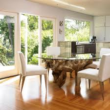 teak root dining table base modern kitchen with fabulous large dining table with glass top and