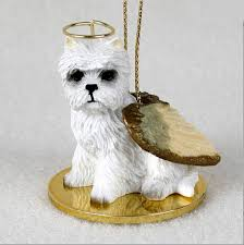westie figurine ornament statue painted