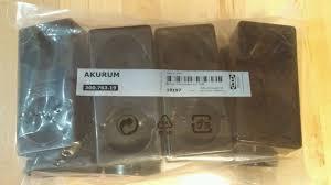Akurum Kitchen Cabinets by New Ikea Faktum Akurum 4 Black Furniture Legs Kitchen Cabinets