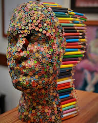 color blind colorful pencil sculpture by molly gambardella