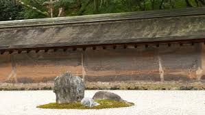 zen rock garden in ryoan ji temple kyoto japan the stones are