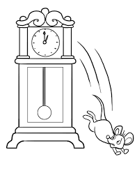 hickory dickory dock i nursery rhyme i clock and mouse crafts