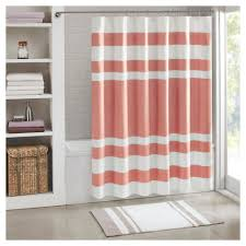 Dorm Bathroom Ideas by Spa Waffle Shower Curtain Coral Pink 72x72 Coral Pink