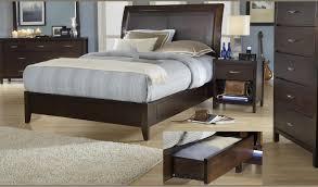 modus international urban loft contemporary king sleigh bed with