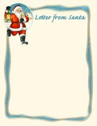 santa clip art borders printable santa letter 13 vintage
