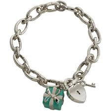 heart charm necklace tiffany images Co blue box heart lock charm bracelet jpg