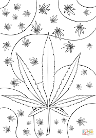 psychedelic weed coloring page free printable coloring pages
