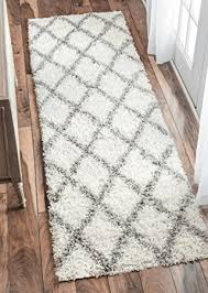 Plush Runner Rugs Cozy Soft And Plush Trellis Runner Shag Area